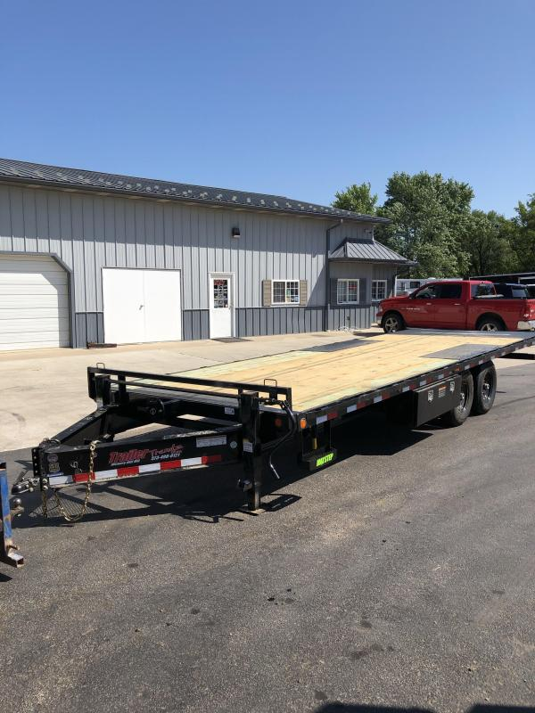 2019 Load Trail 102X24 LT D/O PINTLE TILT RAPID BATTERY CHARGER Equipment Trailer