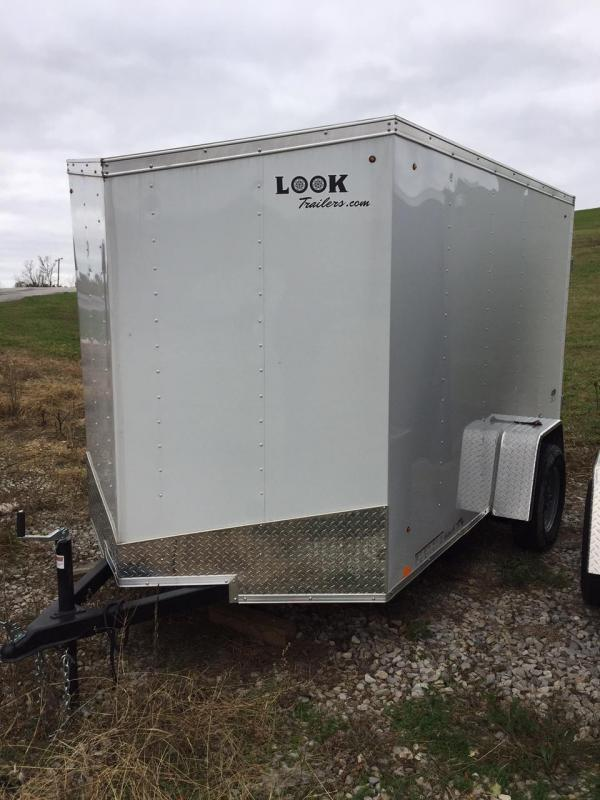 2018 Look Trailers 6X10 VEE NOSE Enclosed Cargo Trailer