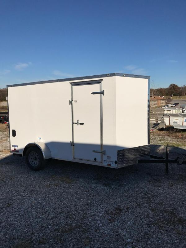 2018 Continental Cargo 6.5 X 12 V SERIES EXTRA WIDE RAMP DOOR Enclosed Cargo Trailer