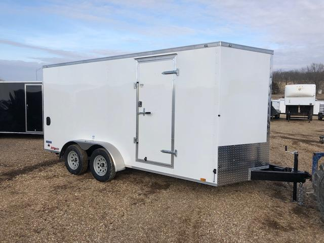 2018 Continental Cargo 7X16 VEE SERIES RAMP DOOR Enclosed Cargo Trailer