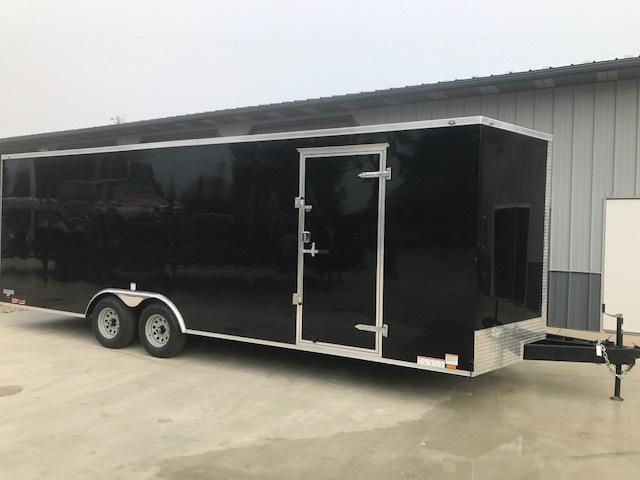 2018 Continental Cargo VHW8.524TA3 Enclosed Cargo Trailer BLACK 10K SCREWLESS 4-DRINGS BEAVERTAIL