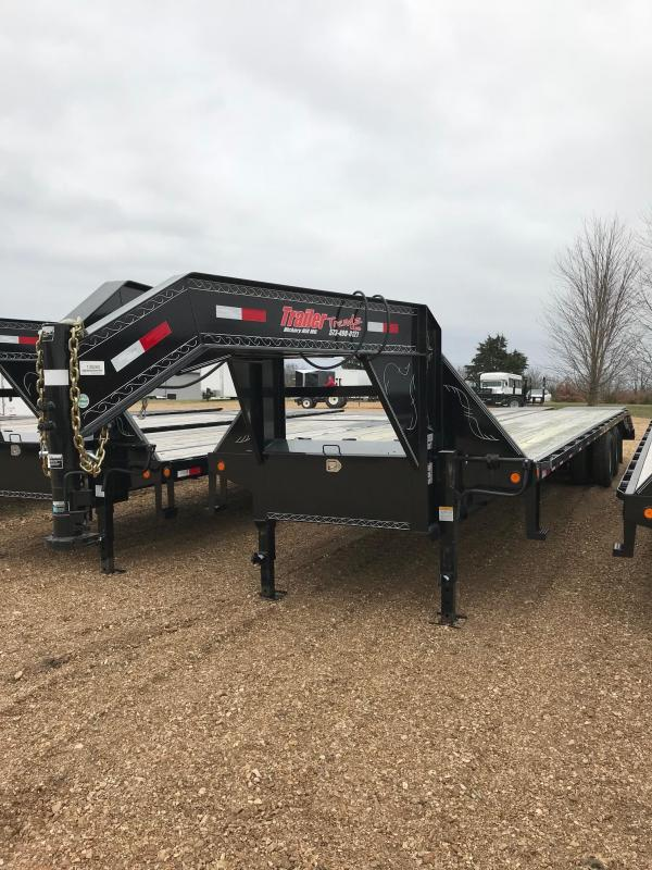 2017 Load Trail 102X32 GH 5 FOOT DOVE MAX RAMPS Flatbed Trailer