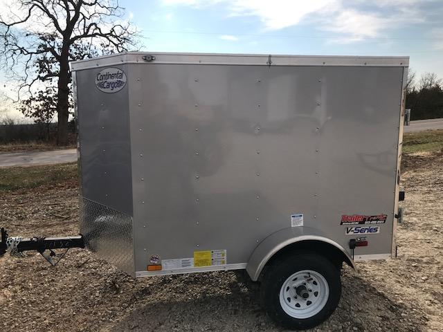 2018 Continental Cargo 4X6 VEE SERIES Enclosed Cargo Trailer