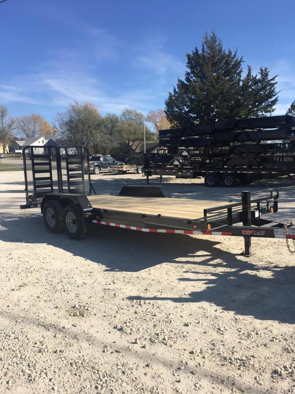 2018 Load Trail 83X20 14K HD SPLIT GATE Equipment Trailer