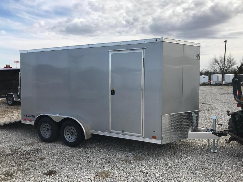 2018 Aluminum Trailer Company 7x14 RAMP DOOR ALL ALUMINUM FRAME Enclosed Cargo Trailer