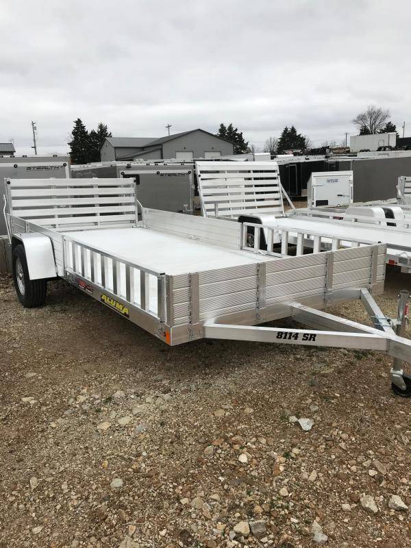 2018 Aluma 8114SR SIDE MOUNT RAMP Utility Trailer