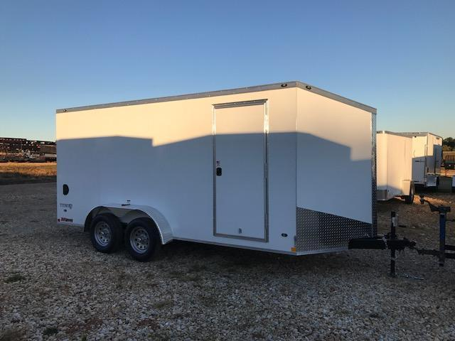 2018 Stealth Trailers 7X16 TITAN SCREWLESS EXTERIOR Enclosed Cargo Trailer