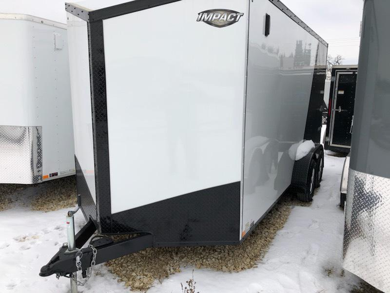 2019 Impact Trailers 7X16 BLACK OUT PACKAGE Enclosed Cargo Trailer