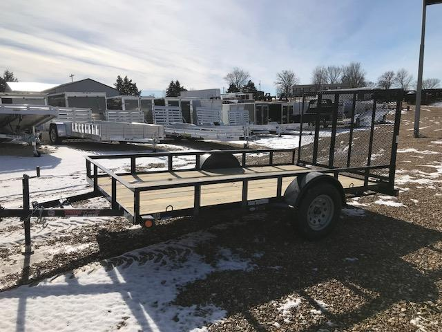 2018 Load Trail 77X12 SE SINGLE AXLE ANGLE GATE AND RAILS Utility Trailer