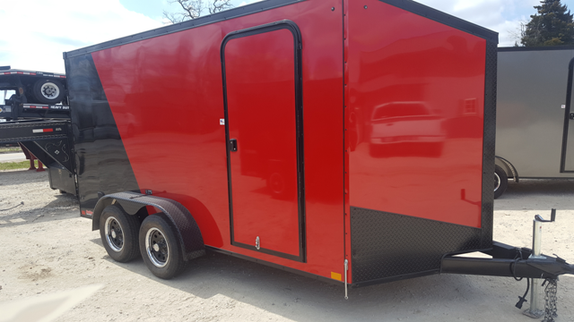 2019 Impact Trailers TREMOR RED / BLACK Enclosed Cargo Trailer