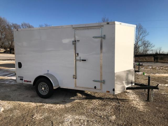 2018 Continental Cargo 6X12 V SERIES DOUBLE REAR DOOR Enclosed Cargo Trailer