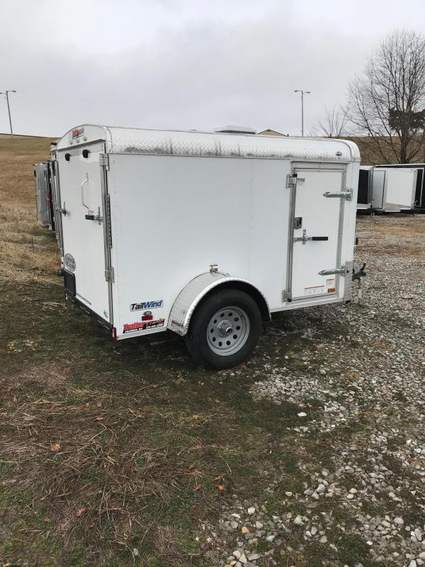 2018 Continental Cargo 5x8 TAILWIND ROUND TOP Car / Racing Trailer