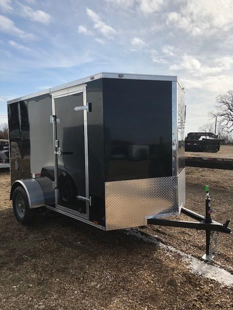 2018 Continental Cargo 6X10 SINGLE AXLE RAMP DOOR Enclosed Cargo Trailer