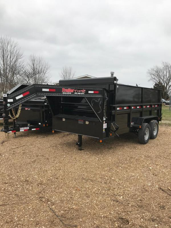 2018 Load Trail 83X14 14K WITH 2 SIDE EXTENSIONS Dump Trailer