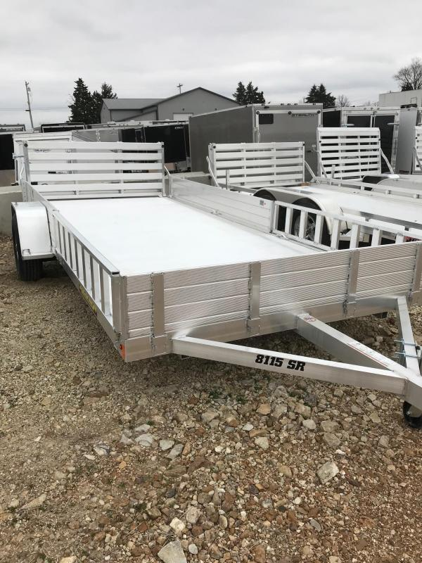 2018 Aluma 8115 SR SIDE RAMP Utility Trailer