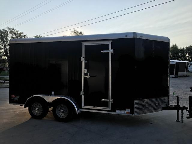 2018 Continental Cargo 7X14 TAILWIND NITRO ROUND TOP VEE NOSE Enclosed Cargo Trailer