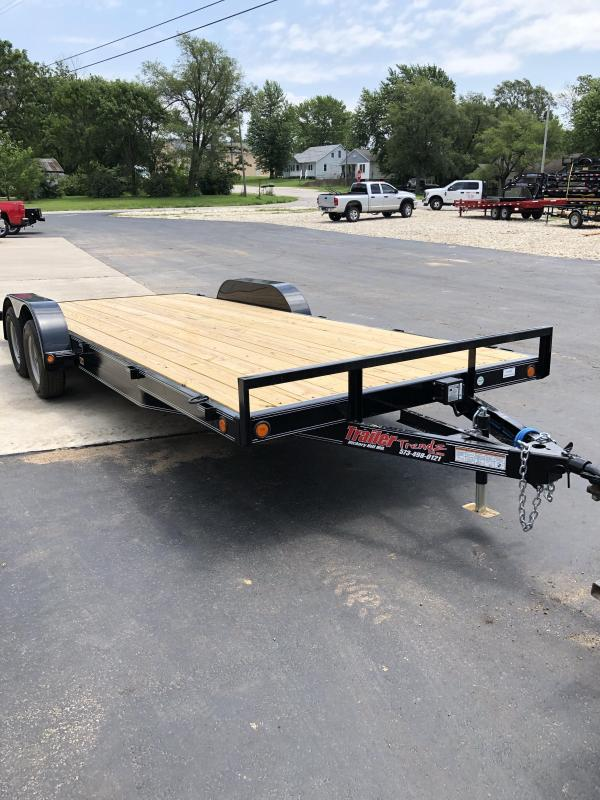 2019 Load Trail 83X20 LOADTRAIL CARHAULER DOVE TAIL BLACK Car / Racing Trailer