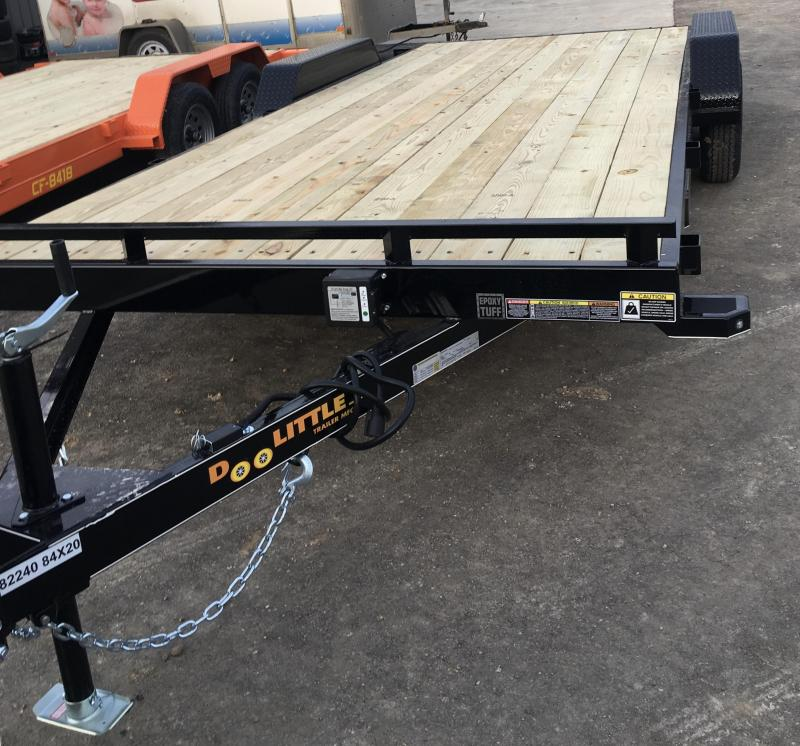 2019 Doolittle Trailer Mfg 84X20 CH Flatbed Trailer