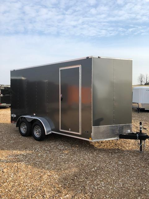 2018 Stealth Trailers 7X14 VEE NOSE TANDEM ZXLE 7 INT HEIGHT Enclosed Cargo Trailer
