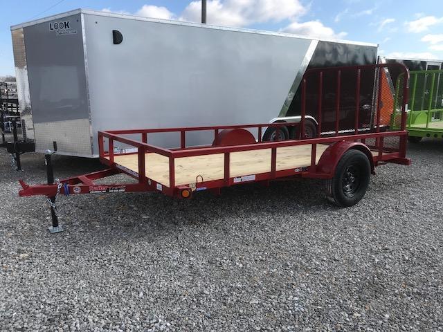 2018 Load Trail 77X12 SE RED SINGLE AXLE Utility Trailer