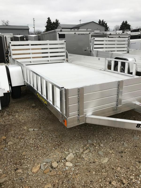 2018 Aluma 8113SR SIDE MOUNT RAMP Utility Trailer