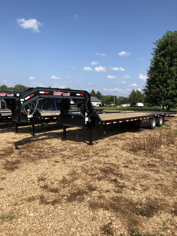 2020 Load Trail 102X34 LOADTRAIL LOW PRO GOOSENECK 24K GVW BLACK Flatbed Trailer