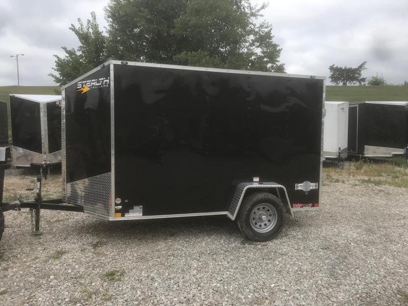 2019 Stealth Trailers 6X10 BLACK MUSTANG RAMP DOOR Enclosed Cargo Trailer