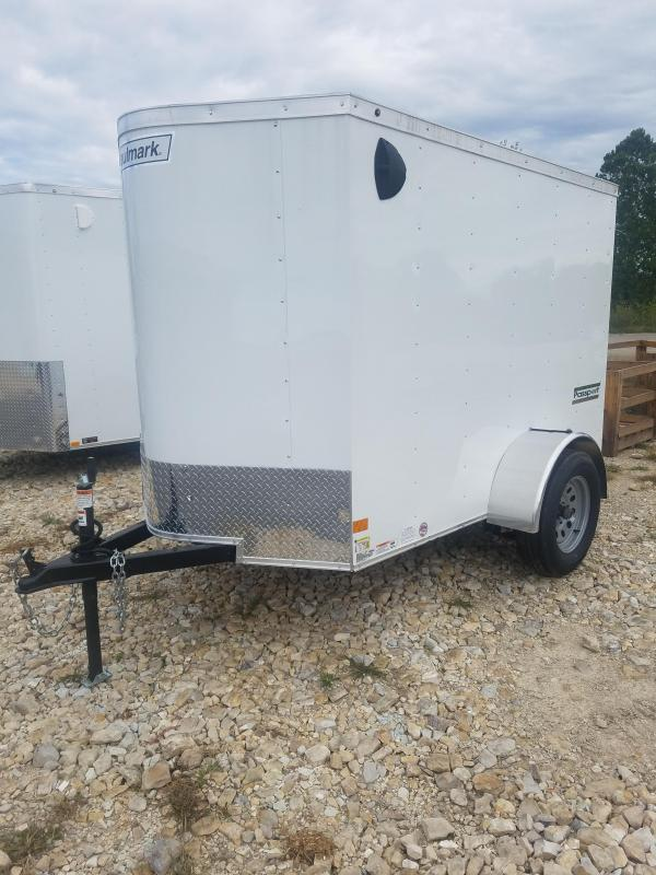2020 Haulmark 5X8 HAULMARK PASSPORT NO SIDE DOOR WHITE Enclosed Cargo Trailer