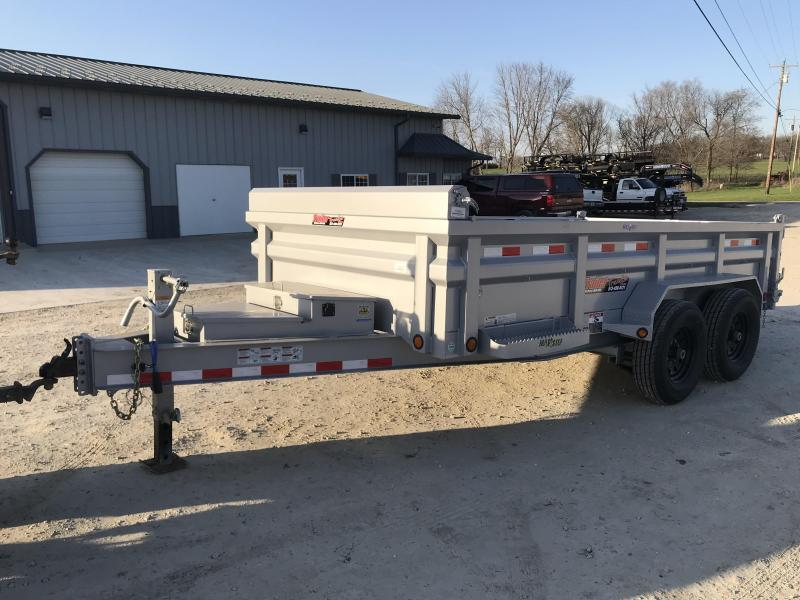 2018 Load Trail 83x14 DH 14K HEAVY DUTY SILVER Dump Trailer