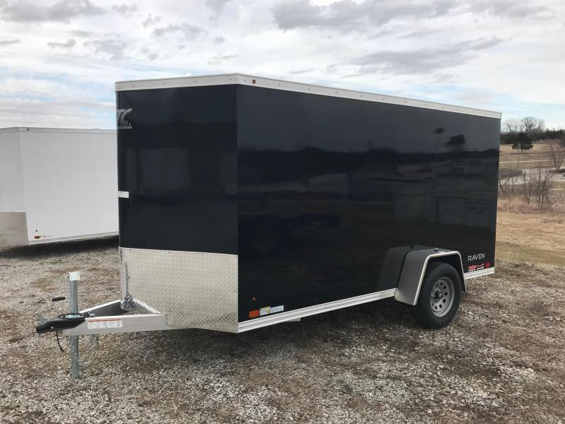 2018 Aluminum Trailer Company 6X12 RAMP DOOR ALUMINUM FRAME Enclosed Cargo Trailer