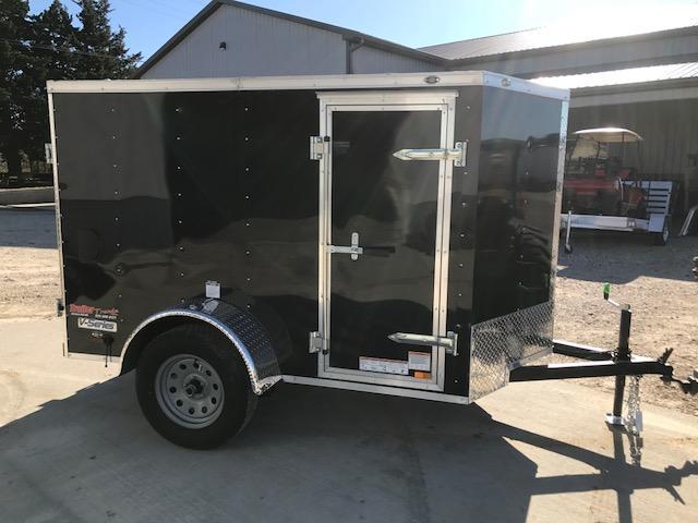 2018 Continental Cargo 5X8 V SERIES DOUBLE REAR DOOR Enclosed Cargo Trailer