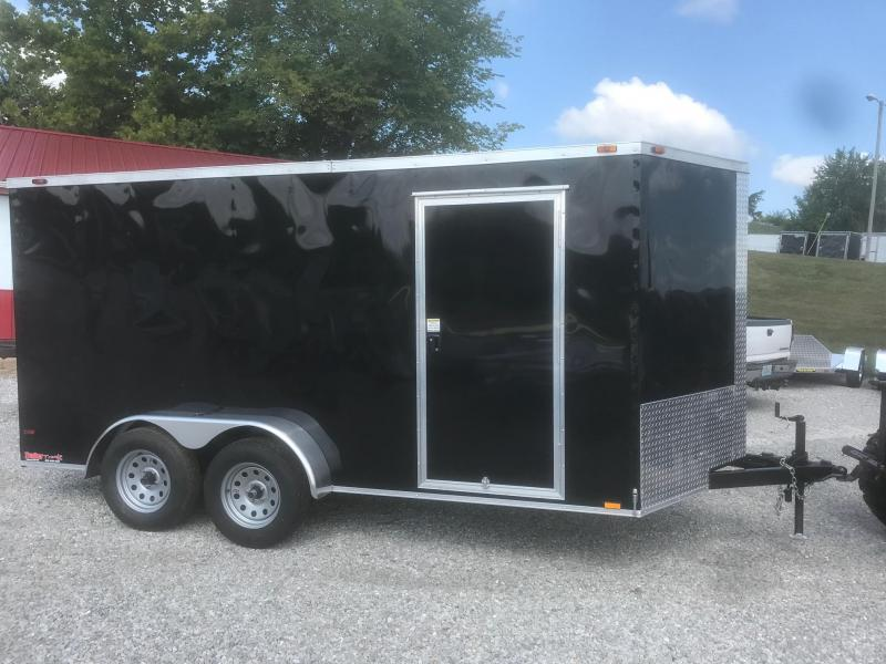 2018 TT 7X14 BLACK Enclosed Cargo Trailer