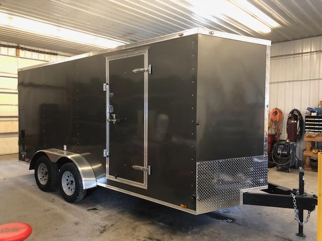 2018 Continental Cargo 7x16 VEE NOSE RAMP DOOR Enclosed Cargo Trailer