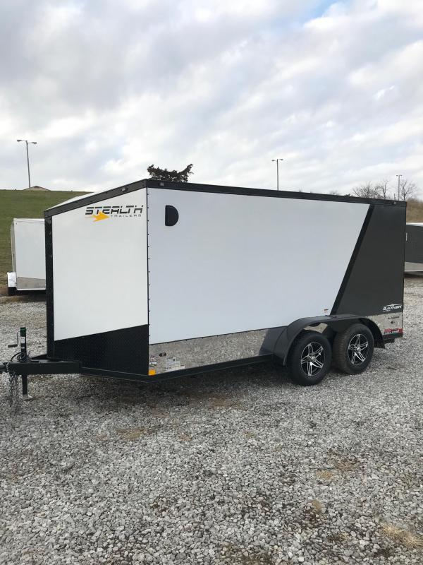 2018 Stealth Trailers 7X14 BLACKHAWK ALUMINUM 2 BIKE Enclosed Cargo Trailer