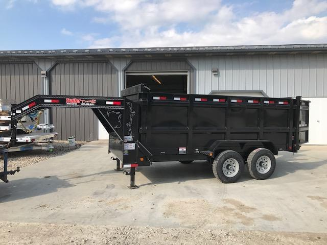 2018 Load Trail 83X14 GOOSENECK 4 FOOT SIDES 2 JACKS Dump Trailer