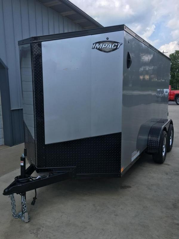 2020 Impact Trailers 6X12 IMPACT TREMOR REAR RAMP TAPED SEAMS Enclosed Cargo Trailer