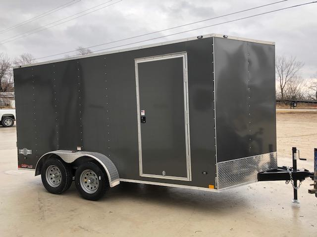 2018 Stealth Trailers 7X14 MUSTANG TANDEM AXLE VEE NOSE Enclosed Cargo Trailer