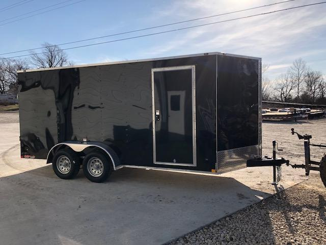 7X16 STEALTH MUSTANG SIDE/RAMP DOOR 6FT 6 TALL BLACK