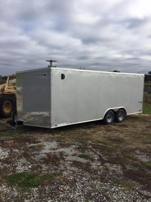 2018 Look Trailers 8.5X20 ELEMENT SE SILVER SCREWLESS Car / Racing Trailer
