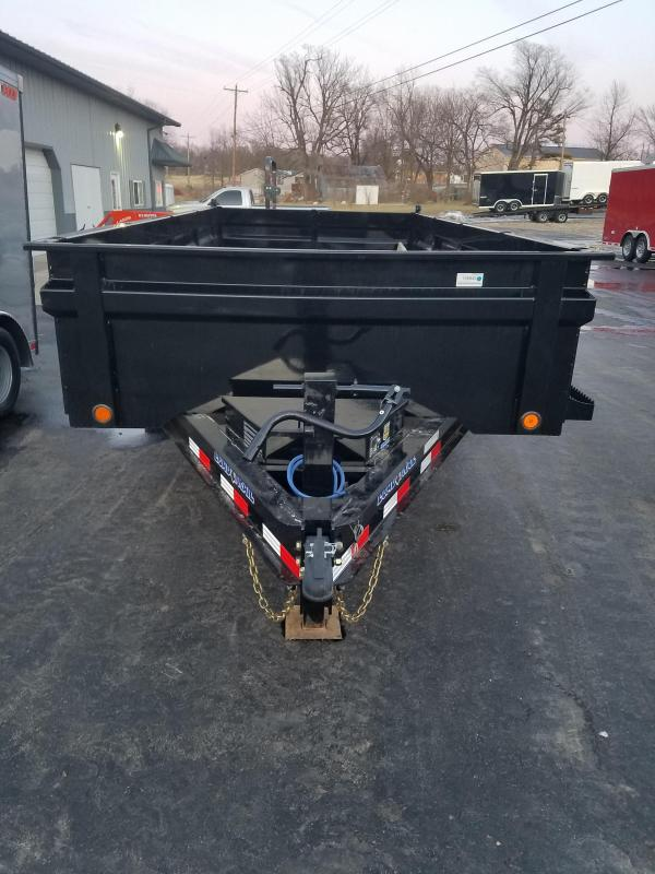 2020 Load Trail 83x16 LOAD TRAIL DUMP MAX STEP BLACK Dump Trailer