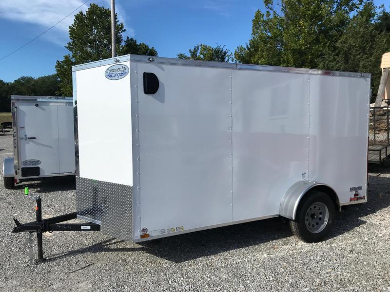 2020 Continental Cargo 6X12 V SERIES RAMP DOOR Enclosed Cargo Trailer