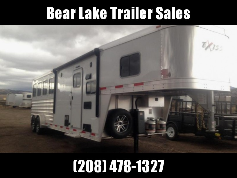 2017 Exiss Living Quarter 4 Horse Trailer