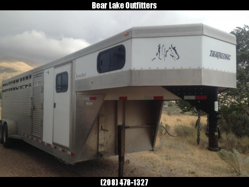 2004 Travalong Aluminum Stock Combo Trailer