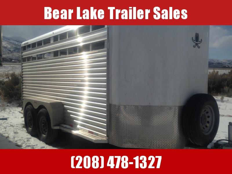 2017 Titan Aluminum Bumper Pull Livestock Trailer