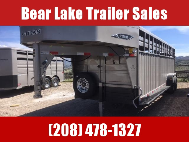 2019 Titan Trailers 24 Rancher Livestock Trailer