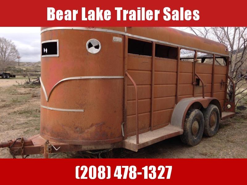 1975 W-W Bumper Pull Stock Trailer