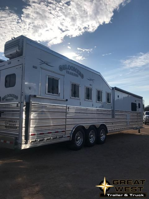 "2019 Bloomer 15'9"" short wall 5 Horse slide out Rear  load Trailer"