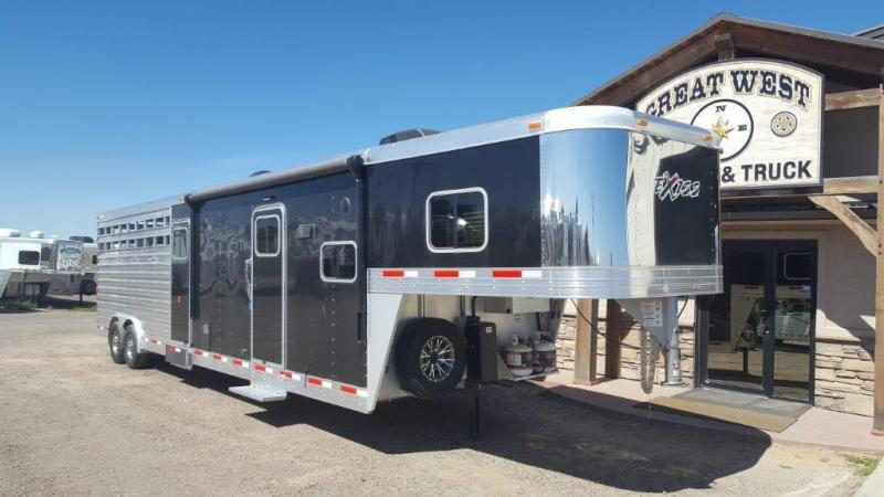 2016 Exiss Trailers STC8032 10 SW Stock/Combo LQ Livestock Trailer