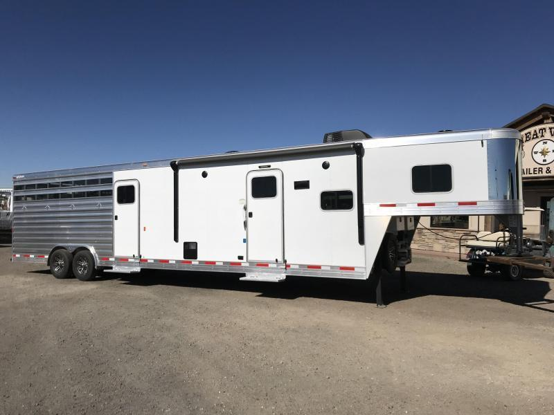 2017 Exiss Trailers 4 Horse Stock Combo Trailer