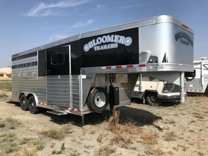 2017 Bloomer Trailer Manufacturing 3 Horse with Dressing Room Horse Trailer